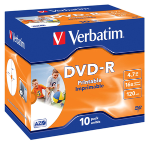 Verbatim DVD-R Medien 4.7GB,16x,10er Pack | Dodax.at