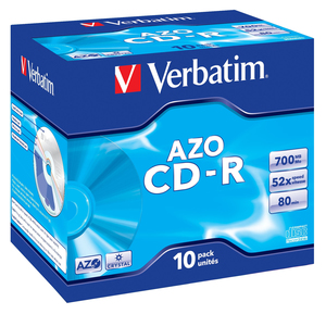 Verbatim CD-R 52x 80Min/700MB 10er Pack | Dodax.at