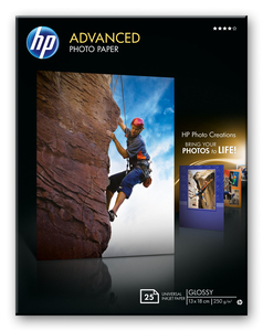 HP Advanced Glossy Photo Paper-25 sht/13 x 18 cm borderless | Dodax.co.uk