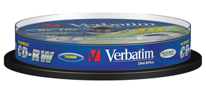 Verbatim CD-RW 12x CD-RW 700MB 10pc(s) | Dodax.co.uk