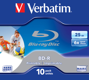 Verbatim BD-R 6x Single Layer 25GB 10-Pck. | Dodax.at