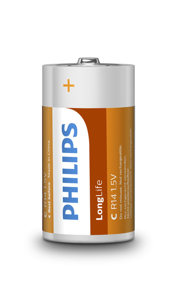 Philips LongLife Battery R14L2B/10 | Dodax.ca