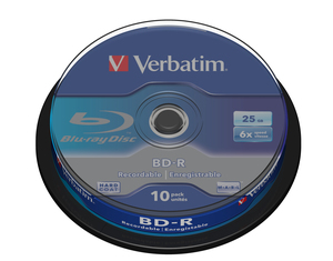 Verbatim BD-R 6x Single Layer 25GB 10-Sp. | Dodax.ch