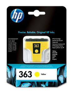HP 363 Yellow Original Ink Cartridge | Dodax.co.uk