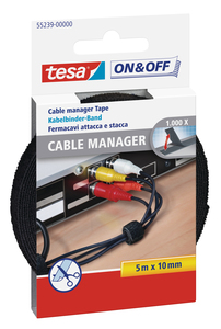 Tesa Velcro Cable Manager universal schwarz | Dodax.at