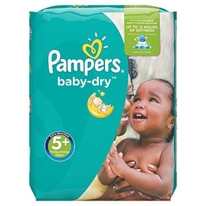 Pampers Baby Dry Gr. 5+ Junior Plus | Dodax.ch