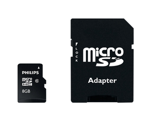 Philips Micro SD cards FM08MP45B/10 memory card | Dodax.at