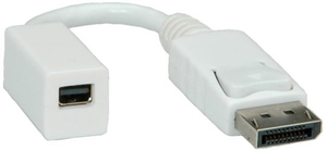 ROLINE 12033132 0.15m DisplayPort Mini DisplayPort Weiß DisplayPort-Kabel | Dodax.at