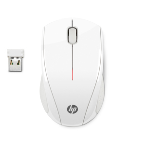 HP - Mouse X3000 , Wireless Blizzard White (N4G64AA) | Dodax.es