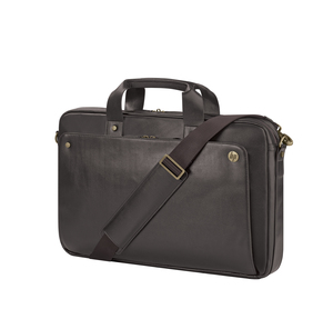 HP 17.3 Executive Brown Leather Top Load | Dodax.co.uk