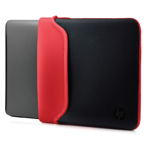 HP 13.3 Black/Red Neoprene Sleeve | Dodax.com