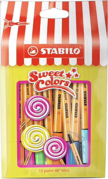 STABILO point 88 Mini Sweet Colors 15er Beutel | Dodax.de