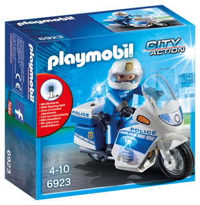 PLAYMOBIL® City Action Police Motorcycle with LED Light 6923   Dodax.com
