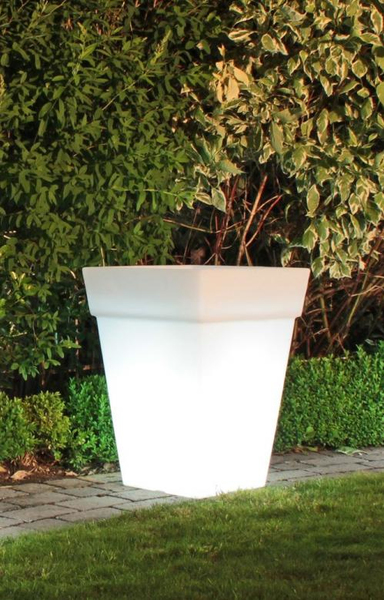 Shining Pot eckig (weiß), Indoor & Outdoor, | Dodax.ch