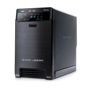 Typhoon QB-X2US3R NAS Mini Tower Schwarz | Dodax.at