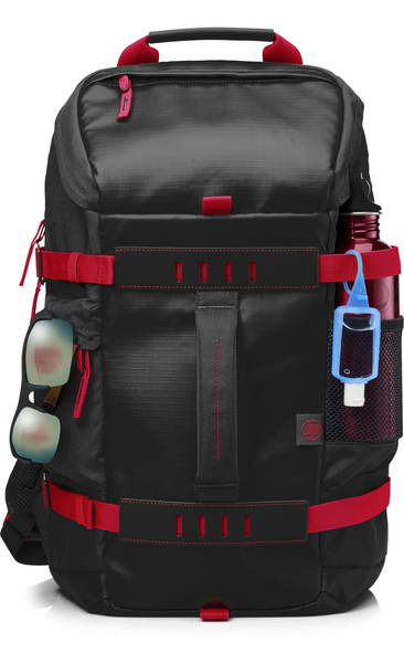 HP 15.6 in Odyssey Red/Black Backpack | Dodax.nl