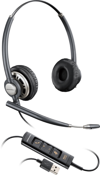 Plantronics Encorepro HW725 Binaural Head-band Black,Silver headset | Dodax.co.uk