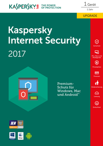 Kaspersky Lab Internet Security 2017 1Benutzer 1Jahr(e) | Dodax.at