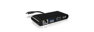 ICY BOX IB-DK403-C USB 3.0 (3.1 Gen 1) Type-C Schwarz | Dodax.at