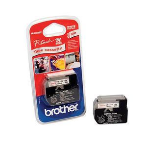 Brother M-K222BZ Red on white label-making tape | Dodax.co.jp