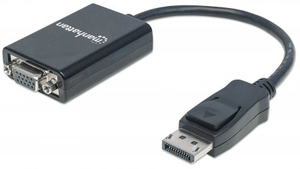Manhattan DisplayPort Adapter Manhattan St-Bu DP->HD15, zwart (151962)
