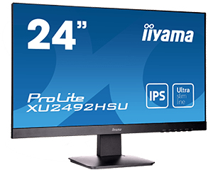 "iiyama ProLite XU2492HSU 23.8"" Full HD IPS Matt Black computer monitor 