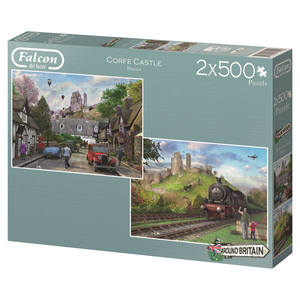 Falcon de luxe Around Britain Corfe Castle, Dorset 2 x 500 pieces | Dodax.co.uk