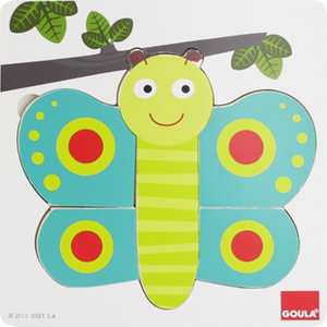 Goula Puzzle 3 Levels Butterfly | Dodax.co.uk