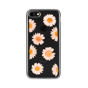 FLAVR iPlate Real Flower Daisy Cover Black,White,Yellow | Dodax.com