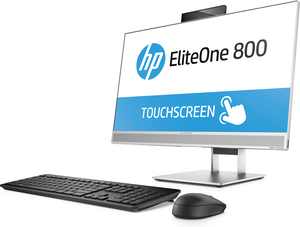 """HP EliteOne 800 G3 3.4GHz i5-7500 23.8"""" 1920 x 1080pixels Touchscreen Black, Silver All-in-One PC 