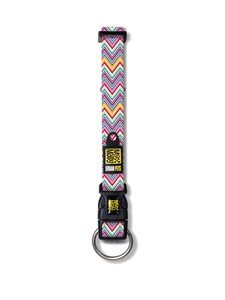 Max & Molly Vintage Pink Multicolour Neoprene,Nylon Medium Dog Standard collar pet collar | Dodax.co.uk