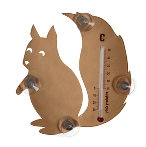 Pluto Produkter Squirrel Indoor/outdoor Liquid environment thermometer Brown | Dodax.com