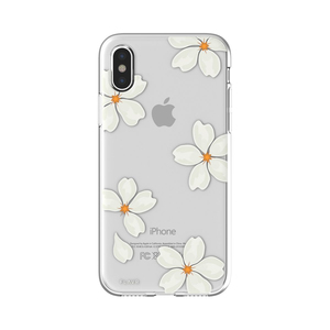 """FLAVR White Petals 5.8"""" Cover Transparent, White, Yellow 