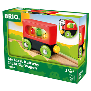 Image of BRIO My First Railway Light up Wagon
