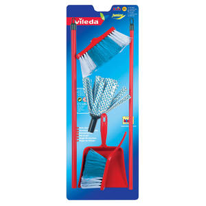 Theo Klein Vileda cloth mop with brush and pan set | Dodax.co.uk