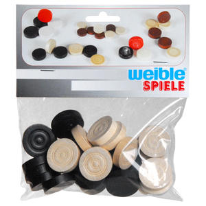 Weible - Morris Gaming Pieces, wood, ø 25 mm (61970925) | Dodax.co.uk