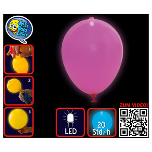 Ballon LED, uni pink | Dodax.co.uk