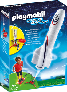Playmobil - Playmobil Sports and Action Rocket with Spring Booster (6187) | Dodax.com