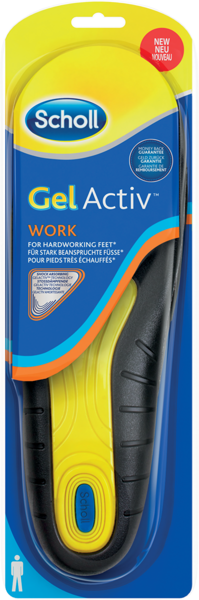 Scholl GelActiv Einlegesohle Work Men 1 Paar | Dodax.co.uk