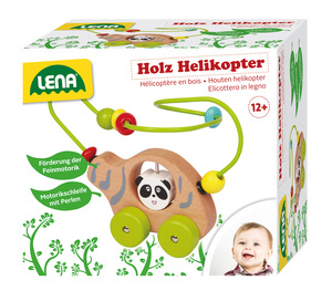 LENA® Wooden Helicopter With Beads Path 32046   Dodax.com