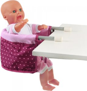 Bayer Chic 2000 - Lilac/Pink Doll Table Seat with Blackberry Dots (73529) | Dodax.es
