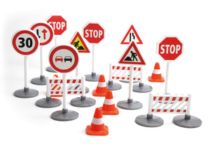 LENA® Toy Traffic Signs 04440 | Dodax.com
