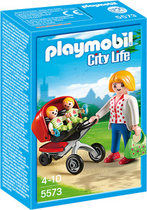 Playmobil City Life Mother with Twin Stroller | Dodax.com