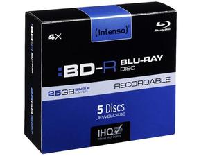 Intenso BD-R 25GB, 4x Speed - RECORDABLE | Dodax.at