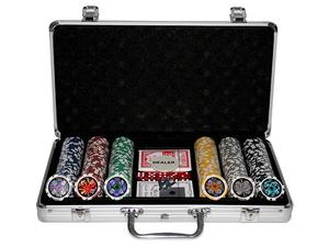 MaKant - 300 Poker Chips with Alu Case, 11.5 g,  Chips LASER (12397) | Dodax.co.uk