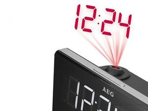 AEG - Radio FM PLL 50 Hz Projection Clock (MRC 4141) | Dodax.ch