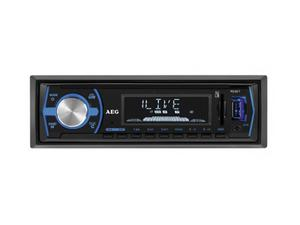 AEG Autoradio mit Bluetooth USB & Card Reader AR 4030 (schwarz) | Dodax.at