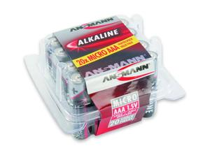 Image of 1x20 Ansmann Alkaline Micro AAA LR 03 red-line Box