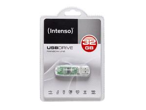 Intenso Rainbow Line 32GB 32GB USB 2.0 Transparent USB-Stick | Dodax.at