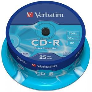 Verbatim CD-R 52x 80Min/700MB 25-Spindel | Dodax.at